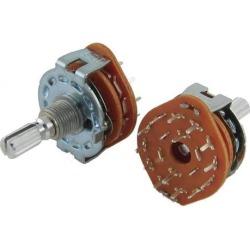 Unique Bargains Unique Bargains 2 pcs AC 125V 0.3A 250V 0.6A 2 Pole 6 Positions Rotary Switch 25mm