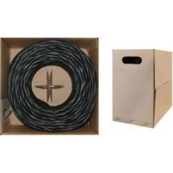 Cable Wholesale CAT5E UTP Bulk Cable, Stranded, 350MHz, 24 AWG, 1000 ft - Black