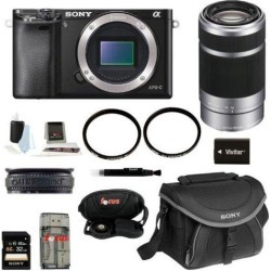 Sony A6000 Alpha A6000 Mirrorless Digital Camera (Body) with 55-210mm Lens and 32GB Deluxe Accessory Kit