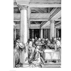Posterazzi BALXAM77588LARGE The Presentation in The Temple Poster Print by Albrecht Durer - 24 x 36 in. - Large