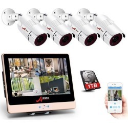 ANRAN 2MP 1920 x 1080P Full PoE Camera Home Security System with 4 Channel 1080P H.264 PoE NVR 12' LCD Monitor, 4 x 2MP Onvif IP66 HD Indoor/Outdoor found on Bargain Bro India from Newegg Canada for $337.85