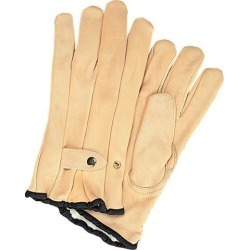 Zenith Safety Products Grain Cowhide Ropers Fleece Lined Gloves, Small, 1 Pair