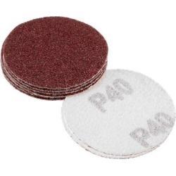 2-inch Hook and Loop Sanding Discs, 40-Grits Grinding Abrasive Aluminum Oxide Flocking Sandpaper for Random Orbital Sander 10pcs