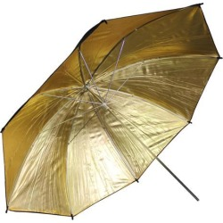 BlueDot Studio Photography Photo Studio 33' BLACK / GOLD Reflective Umbrella NEW