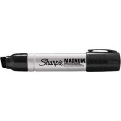 Sharpie 44001 Magnum Oversized Permanent Marker, Chisel Tip, Black