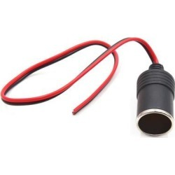 Vehicle Car Cigarette Lighter Female Socket Adapter Outlet Power Extension Cable