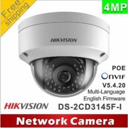 Hikvision Original English Version Surveillance Camera DS-2CD2142FWD-IS 4MP WDR Fixed Dome IP Camera POE Audio/Alarm CCTV Camera(4 mm)