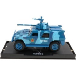 1:50 Alloy Armored Car Military Pull Back Combat Vehicle Toy for Kids Blue