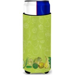 Fruits and Vegetables in Green Michelob Ultra Hugger for slim cans BB5135MUK