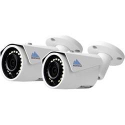 Montavue MTB4104-2PK 2K 4MP HD IP Bullet Camera with Color Night Optics & IR Night Vision (2-Pack)