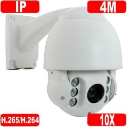 GW Security H.265 4MP HD 2592 × 1520p @30FPS Real-time IP High Speed Pan Tilt Zoom Outdoor/Indoor Network Dome PTZ Camera 10X Optical Zoom