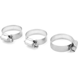 Unique Bargains 3 x Bolt Release 21mm to 38mm Worm Drive Hose Clamps Pipe Hoops