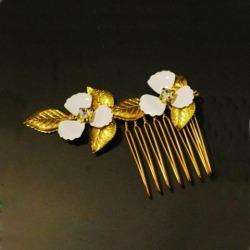 Elegant Bridal Flower Hair Comb Party Hair Pin Side Hair Clip Hair Accessory