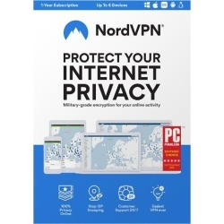 NordVPN Internet Privacy & Security Software 12-Month VPN Subscription - 6 Devices