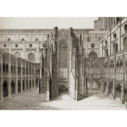 Posterazzi DPI1857428 The Chapter House Old St. Pauls Cathedral London England. After The Engraving by Hollar Poster Print, 17 x 12