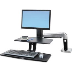Ergotron WorkFit-A Sit-Stand Workstation with Suspended Keyboard - ERG24390026