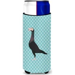 English Carrier Pigeon Blue Check Michelob Ultra Hugger for slim cans BB8119MUK