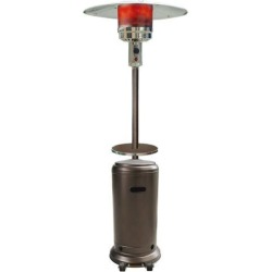 Hanover Outdoor HAN001BR 7-Ft. 41,000 BTU Steel Umbrella Propane Patio Heater in Hammered Bronze