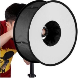 Neewer Universal Collapsible Magnetic Ring Round Flash Diffuser Softbox 18'