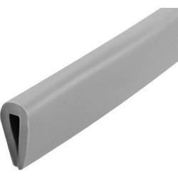 "Edge Trim U Seal Grey PVC Plastic U Channel Edge Protector Fits 3/64"" - 5/64"" Edge 30 Feet Length 15/32"" Height"