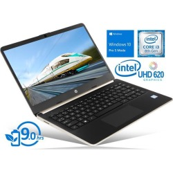 HP 14 Notebook, 14' HD Touch Display, Intel Core i3-8145U Upto 3.9GHz, 4GB RAM, 128GB SSD, HDMI, Card Reader, Wi-Fi, Bluetooth, Windows 10 Pro S Mode