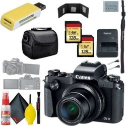 Canon PowerShot G1 X Mark III Digital Camera & 128GB MicroSD x2 & Carrying Case