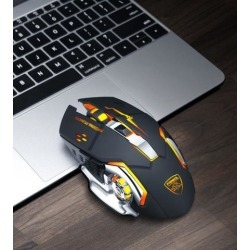 DOBACNER Rechargeable backlight wireless mouse photoelectric office computer unlimited gaming mouse