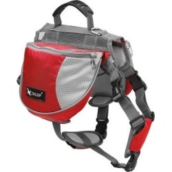 TAILUP Authorized Dog Pet Mesh Backpack Adjustable Carrier Saddle Bag for Outdoor Travel Hiking Camping Red L found on Bargain Bro India from Newegg Canada for $30.36