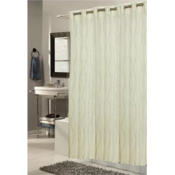 Carnation Home Fashions Shower Stall-Sized, EZ-ON Bristol Polyester Shower Curtain