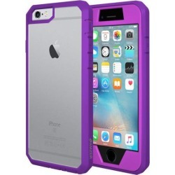iPhone 6s Case, Amzer Ultra Protective Case with Built-in Clear Screen Protector for iPhone 6/ iPhone 6s (4.7 inch) , Dust Proof Design (Purple)
