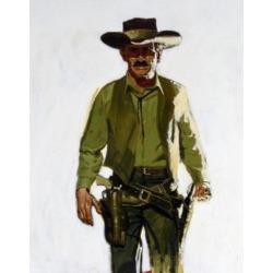 Posterazzi SAL902136113 Portrait of Cowboy Wearing Gun Belt Poster Print - 18 x 24 in.
