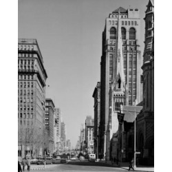 Posterazzi SAL255421783 USA Pennsylvania Philadelphia View of North Broad Street From City Hall Poster Print - 18 x 24 in.