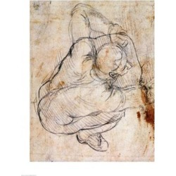 Posterazzi BALBAL191771LARGE Study for The Last Judgement Poster Print by Michelangelo Buonarroti - 24 x 36 in. - Large