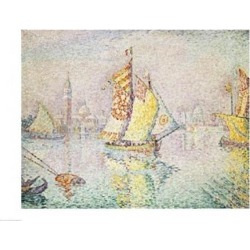 Posterazzi BALXIR182539LARGE The Yellow Sail Venice 1904 Poster Print by Paul Signac - 36 x 24 in. - Large