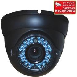 VideoSecu Vandal Proof IR Day Night Vision Built-in 1/3 inch CCD Long Range 4 - 9mm Varifocal Lens 480TVL High Resolution 36 LEDs Security Camera 1k2