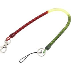 Lobster Swivel Clip Clasp Stretchy Coiled Lanyard Keyring Key Holder 36cm