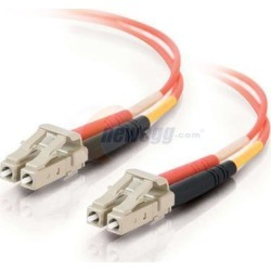 Cables To Go 37957 6.56 ft. LC/LC Plenum-Rated Duplex 62.5/125 Multimode Fiber Patch Cable - Orange