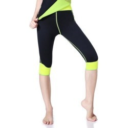 Weight Loss Neoprene Hot Sauna Workout Thermo Pants Capris Body Shaper S