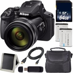 Recertified - Nikon COOLPIX P900 Digital Camera + EN-EL23 Lithium Ion Battery + 64GB SDXC Class 10 Memory Card + Carrying Case + Micro HDMI Cable +