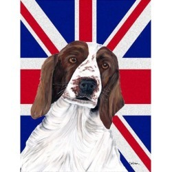 Springer Spaniel with English Union Jack British Flag Flag Garden Size SC9837GF