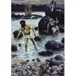 Posterazzi SAL99958 The Calling of James & John James Tissot 1836-1902 French Poster Print - 18 x 24 in.