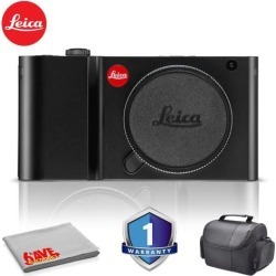 Leica TL Mirrorless Digital Camera (Black) RENEWED - Bundle with Carrying Case and More