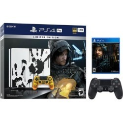 PlayStation 4 Pro 1TB Limited Death Stranding Edition 4K HDR Gaming Console Bundle With an Extra Black DualShock 4 Wireless Controller