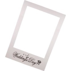 Wedding Day Photo Booth Prop Paper Selfie Frame Background Party Decoration