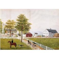 Posterazzi SAL900116365 Farm Landscape S.D. 1884 Schnitzler Robert 19th C. American Poster Print - 18 x 24 in.
