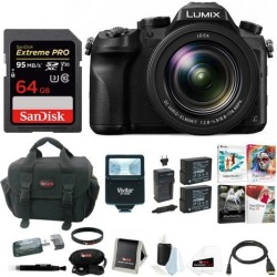 Panasonic LUMIX GH4 Mirrorless Digital Camera w/ 14-140mm Lens & 64GB Bundle