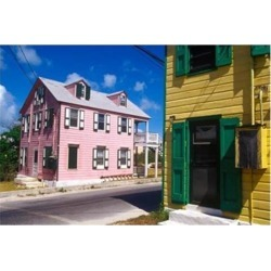 Posterazzi PDDCA05GJO0075 Colorful Loyalist Home Governors Harbour Eleuthera Island Bahamas Print by Greg Johnston