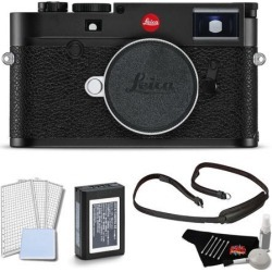 Leica M10 Digital Rangefinder Camera (Black) Body Kit with LCD Screen Protector and Cleaning Kit