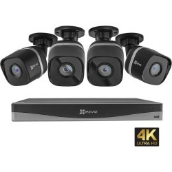 EZVIZ 4K UltraHD 8MP Outdoor IP PoE Surveillance System, 4 Weatherproof UHD EXIR Security Cameras, 4 Channel 2TB NVR Storage, 100 ft. Night Vision, found on Bargain Bro India from Newegg for $349.99