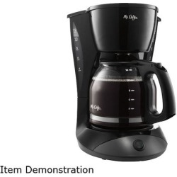 Mr. Coffee DW13-RB Simple Brew 12-Cup Switch Coffee Maker, Black